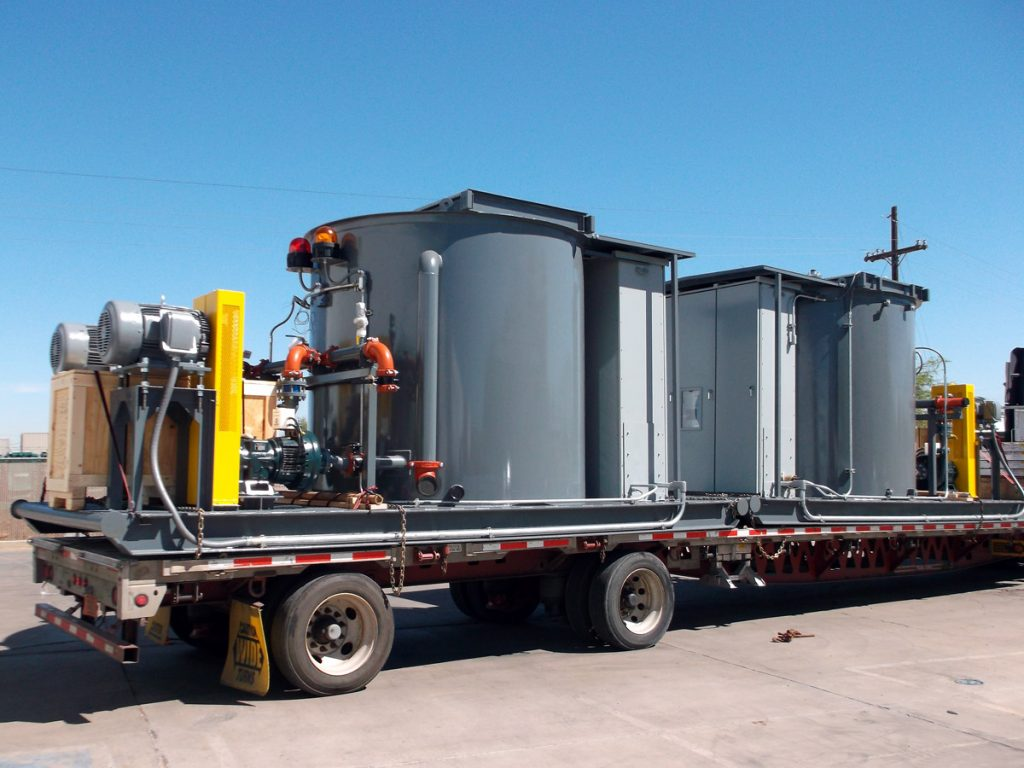 Eagle Mine - Portable pump stations on truck